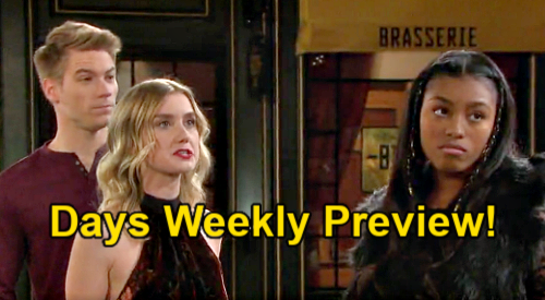 Days of Our Lives Spoilers: Week of March 22 Preview – Paulina's Daughter Chanel Tricks Tripp & Claire – Sami Lies for Allie