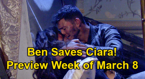 Days of Our Lives Spoilers: Week of March 8 Preview - Brady & Chloe Sparks Fly - Ben Saves Ciara - Xander's Best Man