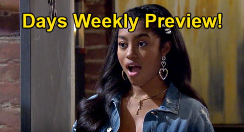 Days of Our Lives Spoilers: Week of May 17 Preview – Eli Towel Drop Stuns Chanel – Screaming Sami Collapse – Ciara's New Demand