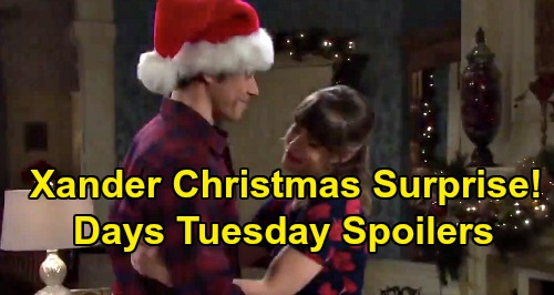 Days of Our Lives Spoilers: Tuesday, December 24 – Xander's Christmas Surprise for Sarah – Eve Leaves Salem – Julie's Holiday Scare