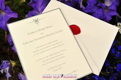 Revealed: Breaking Dawn Wedding Invitation For Edward & Bella