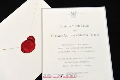 Revealed Breaking Dawn Wedding Invitation For Edward Bella