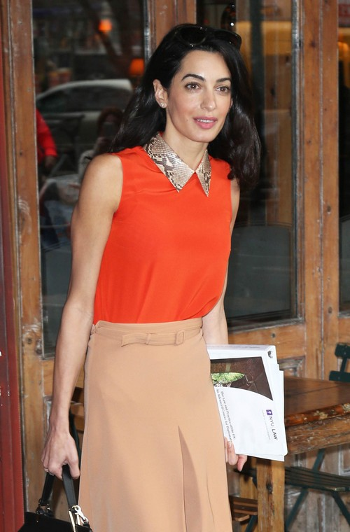 Amal Alamuddin Refuses To Be A Socialite - George Clooney Demands Wife Support Hollywood Career?