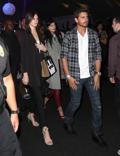 Kylie Jenner, Kendall Jenner & Scott Disick At The Day By Day Fashion Show