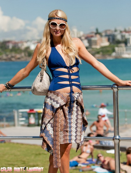 Paris Hilton Checks Out Bondi Beach In Sydney, Australia (Photos)