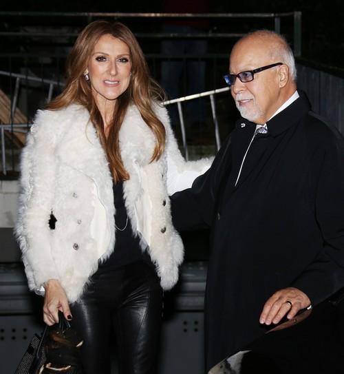 Celine Dion & Rene Angelil Arriving At \