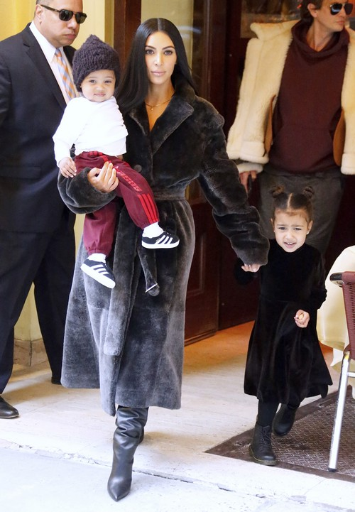 Kim Kardashian Parades Children on Shopping Trip: North ...
