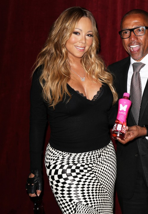 mariah carey announces the launch of her go nsyde bottle