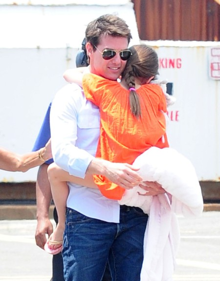 Tom Cruise Following Katie Holmes To NYC 0722