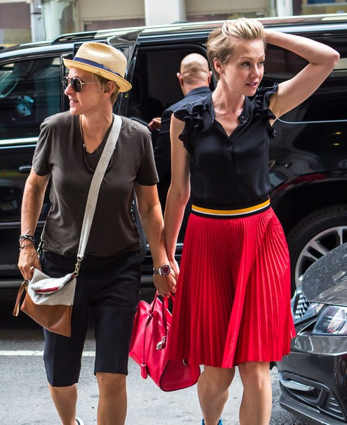 Portia De Rossi Weight: Ellen DeGeneres & Portia De Rossi Go Shopping In NYC