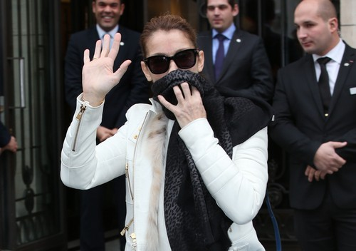 Celine Dion Leaves The Royal Monceau Hotel | Celeb Dirty Laundry