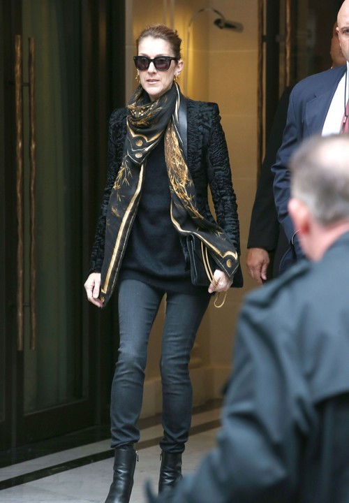 Celine Dion Leaves Her Paris Hotel Celeb Dirty Laundry