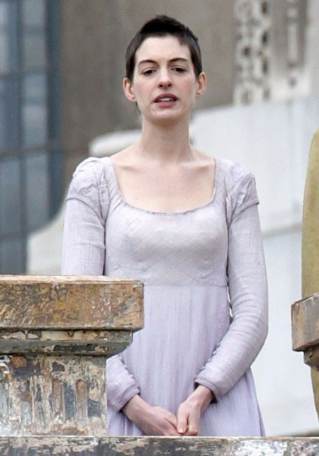 Anne Hathaway Spotted Filming Les Miserables (Photos)