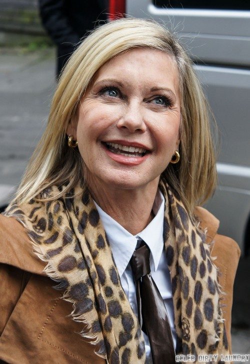 Olivia Newton John Arriving At Itv Studios In London