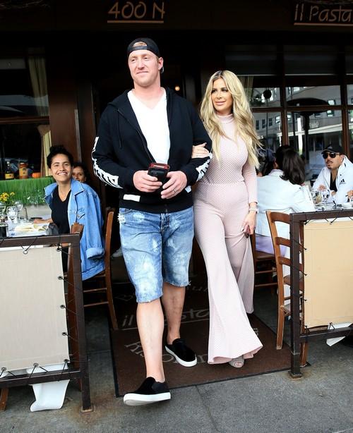 Kim Zolciak & Croy Biermann Grab Lunch At Il Pastaio In Beverly Hills