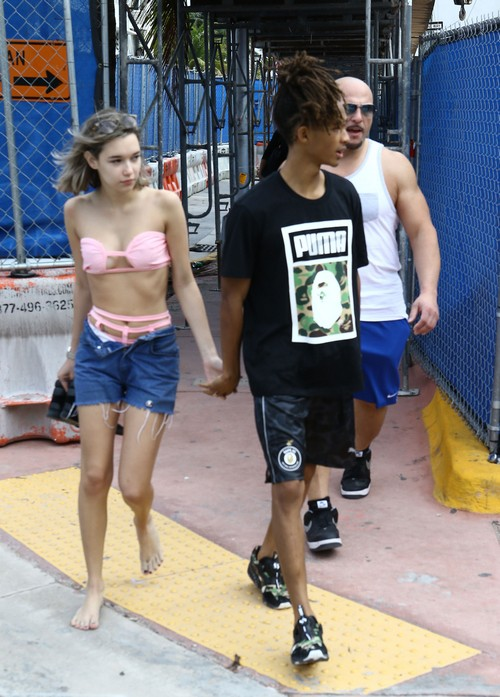 Jaden Smith And Girlfriend Sarah Snyder Out And About In Miami