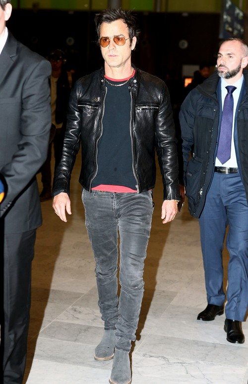 Justin Theroux Upset Over Jennifer Aniston and Brad Pitt's Relationship - Flies Solo To Paris Fashion Week