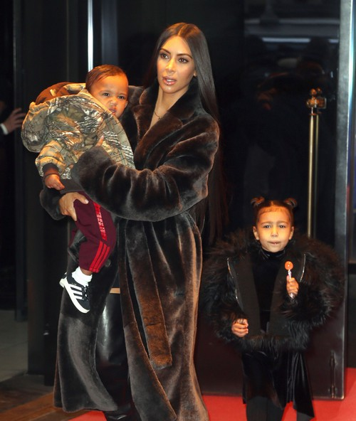 Kim Kardashian & Kids Step Out In NYC