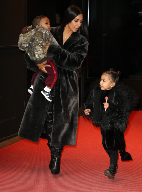 Kim Kardashian Parades Children On Shopping Trip North