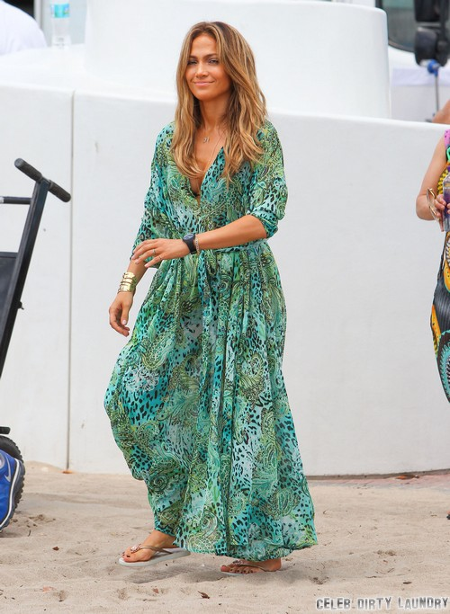 Jennifer Lopez And Casper Smart Escape Gunshots During Video Shoot