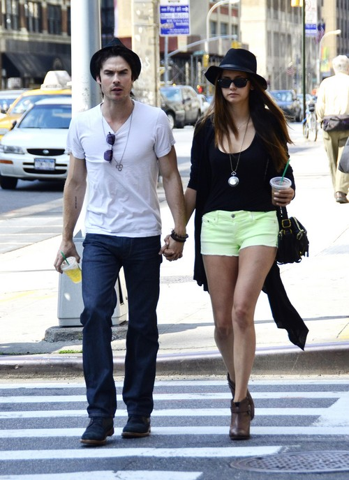 Ian Somerhalder and Nina Dobrev in Celebrity Beach Bowl