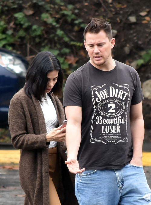Channing Tatum out with his wife Jenna Dewan Tatum in Studio City, California on January 10, 2017. Channing made headlines today after he posted a nude photo of his wife Jenna Dewan Tatum napping on their bed January 9, 2017.