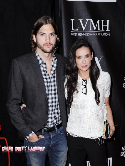 Demi Moore And Ashton Kutcher Praying Together But Not Staying Together