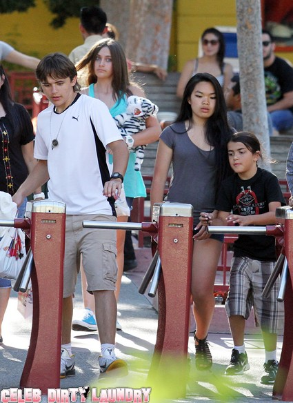 Michael Jackson's Children With Grandma In Gary For Celebration