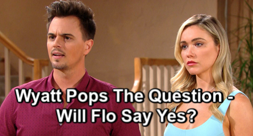 The Bold and the Beautiful Spoilers: Wyatt Proposes to Lying Flo – Emma's Death Brings Major Decision and Push for Marriage