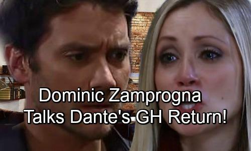 General Hospital Spoilers: Dominic Zamprogna Talks Dante's GH Return