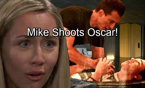 General Hospital Spoilers: Mike Shoots Oscar, Jason To The Rescue