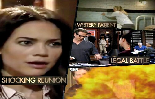 General Hospital Spoilers: New Promo Video Shocker - Peter's On Fire - Liz's Surprise Visitor - Carly Talks To Mystery Patient