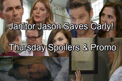 General Hospital Spoilers: Thursday, June 14 – Janitor Jason Brings Relief for Carly – Kiki and Dr. Bensch Face Off
