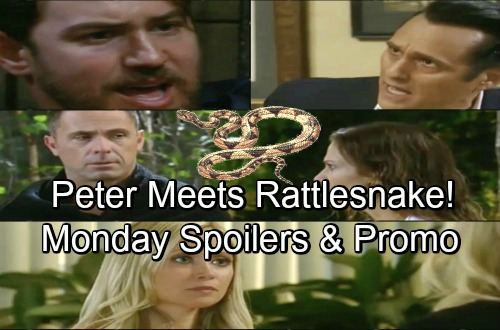 General Hospital Spoilers: Monday, June 18 – Rattlesnake Inches Closer to Peter – Kim Fears Grave Danger – Sonny Explodes at Mike