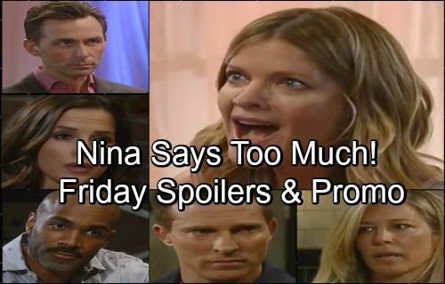 General Hospital Spoilers: Friday, June 22 – Nina's Outburst Huge Clue For Valentin – Sonny and Margaux Spar – Lucas' Fears Grow