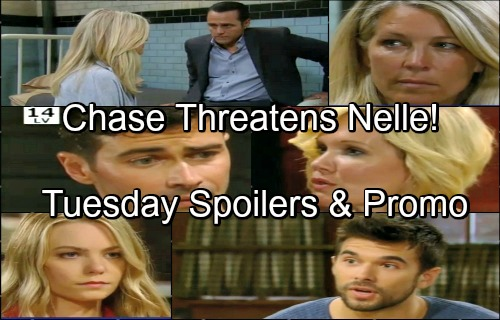 General Hospital Spoilers: Tuesday, June 26 – Chase Threatens Nelle – Francesca Warns Michael – Ava Plots Payback for Kiki