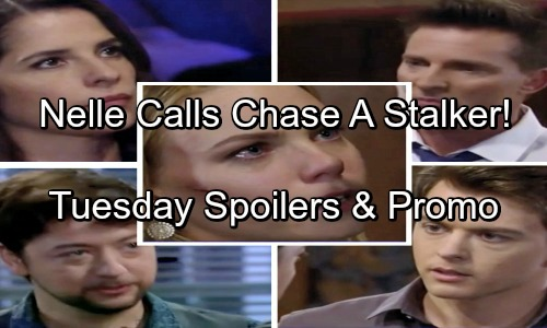 General Hospital Spoilers: Tuesday, June 12 – Nelle Accuses Chase of Stalking – Spinelli Has Dirt for Michael – Jason's Rage Grows