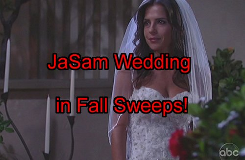 'General Hospital' Spoilers: Jason Sam Wedding for Fall Sweeps – Frank Valentini Leaks JaSam Wedding Pic