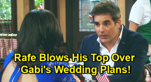 Days of Our Lives Spoilers: Rafe Blows His Top Over Gabi and Stefan's Marriage Shocker – Warns Sister It'll End in Disaster