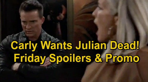 General Hospital Spoilers: Friday, December 4 – Carly Wants Julian to Pay – Trina Tells Joss Taggert Alive – Sasha Blasts Chase