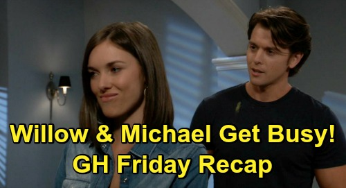 General Hospital Spoilers: Friday, November 13 Recap - Willow & Michael Make Love - Sasha ODs at Cyrus' - Carly's Nelle Shocker