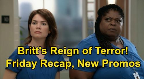 General Hospital Spoilers: Friday, September 11 Recap - Britt's Reign of Terror, Demotes Epiphany & Hurts Liz - Ava Shows Kindness
