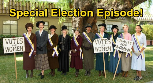 General Hospital Spoilers: GH Special Election Episode – Port Charles Goes Back in Time, History Behind Women's Right to Vote