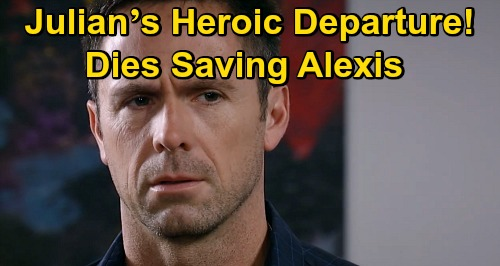 General Hospital Spoilers: Julian's Last Heroic Moment, William deVry's Exit – Rescues Alexis Before Being Killed in Cyrus War?