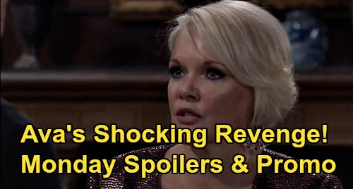 General Hospital Spoilers: Monday, August 17 – Ava's Revenge for Portrait – Carly's Celebration – Jax Half-Heart Pendant News