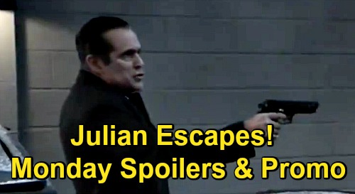 General Hospital Spoilers: Monday, December 14 – Julian Escapes Sonny – Obrecht's Dead Body Dilemma – Maxie's Bad News