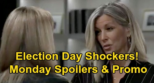 General Hospital Spoilers: Monday, November 2 – Election Day Shockers - PC Goes Back In Time – Josslyn & Trina's History Lesson
