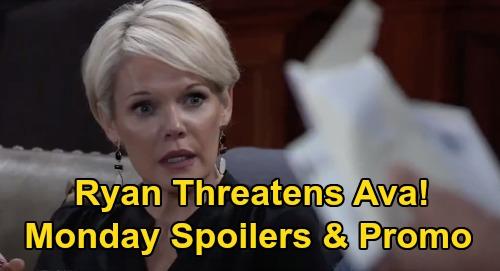 General Hospital Spoilers: Monday, October 5 – Jason & Sonny's Cyrus Scheme – Ryan Threatens Ava – Cam & Joss Messy Kiss Aftermath