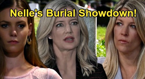 General Hospital Spoilers: Nelle's Burial Site Showdown – Nina Accuses Carly of Dancing on Rival's Grave, Cemetery Clash Ahead