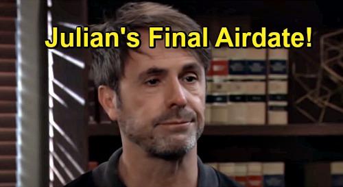General Hospital Spoilers: New Julian Exit Details, Week of December 14 Final Airdate – William deVry's Character Killed?